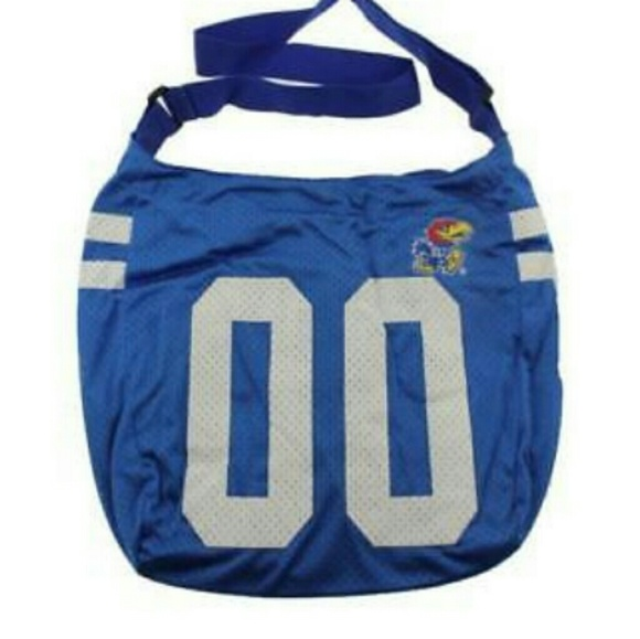 Handbags - Kansas Jayhawks Sports Team Blue Hobo Bag